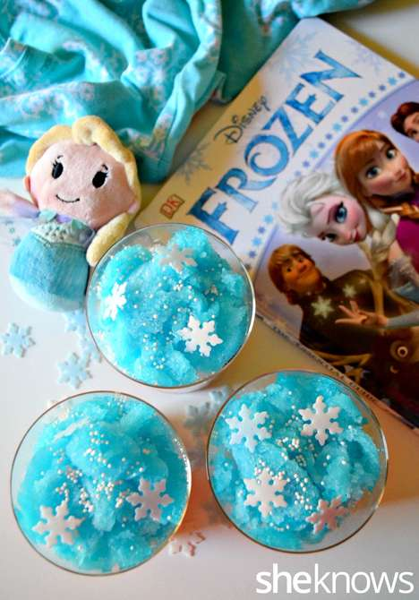 Wintery Disney Slushies - These Whimsical Homemade Slushies are Inspired by Disney's Frozen