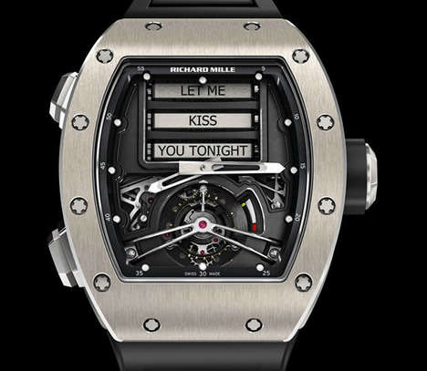 Flirtatious Message-Generating Watches - This Richard Mille Tourbillon Watch Forms Suggestive Notes