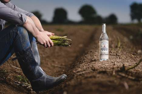 Veggie-Infused Gins - This Limited-Edition Portobello Road Gin is Made with an Infusion of Asparagus