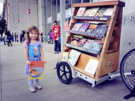 Portable Pop-Up Libraries - The Bibliobicicleta is a Bicycle Pop-Up Library That Encourages Reading