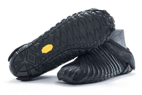 Japanese-Inspired Wrapped Shoes - 'Vibram' Created a Sneaker That Uses an Old Japanese Material