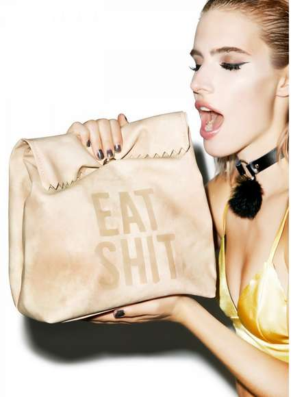 Crass Lunch Bag Clutches - This Naughty Clutch is Far More Stylish and Rude Than a Brown Paper Bag