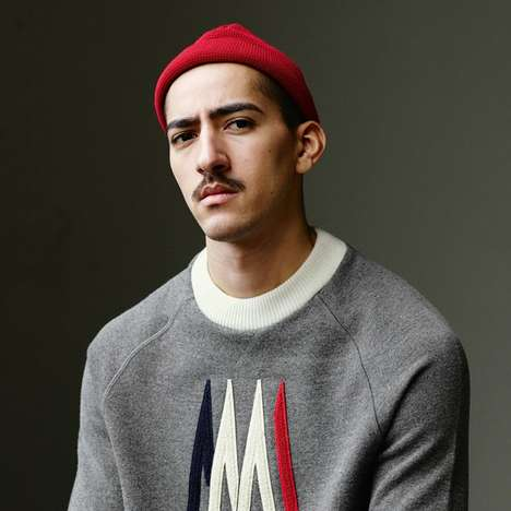 Ski-Themed Streetwear - Ami and Moncler's Menswear Lookbook Fuses French Style with Sports