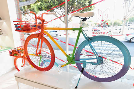 Artistic Bike Installations - #UnchainMe Showcases the Relationship Between Transportation and Art
