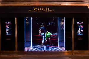 This Futuristic Display Window Showcases Ralph Lauren Polotech