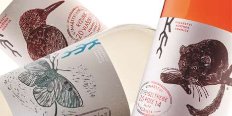 Animal-Themed Wine Labels - The Kořínek Winery Features Distinctive Animal Wine Bottle Labels