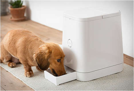 Auto Pet-Feeding Devices - The 'Petly' is an Automatic Feeder That Ensures Pets Get Fed in Intervals