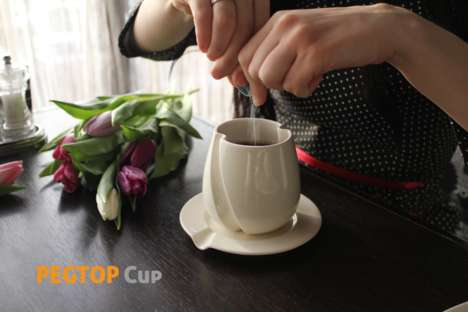 Self-Stirring Coffee Cups - This Device Allows Users to Mix Their Tea or Coffee Without a Teaspoon
