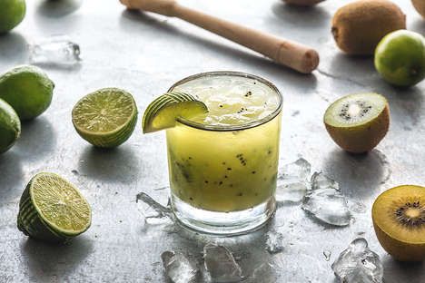 Citrusy Kiwi Cocktails - This Brazilian Caipirinha Beverage is Infused with Fresh Golden Kiwi Fruits