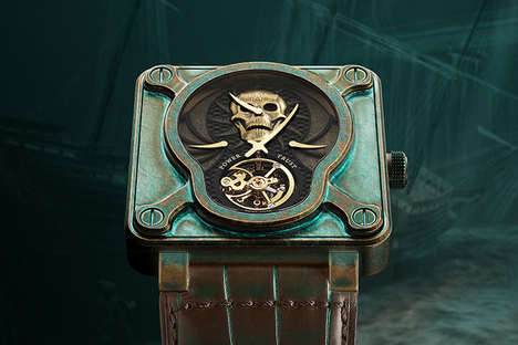 Modern Marauder Watches - This Pirate-Inspired Luxury Collector's Watch Uses Aged Bronze Metal