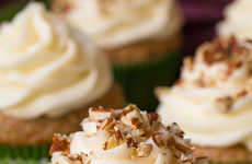 Savory Zucchini Cupcakes - This Homemade Cupcake is Filled with Veggies and a Cream Cheese Frosting
