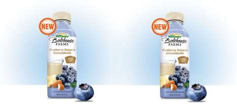 Bottled Berry Nut Beverages - The Bolthouse Berry Almond Milk is Dairy-Free and Design for On-the-Go