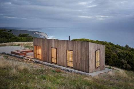 Stoic Vacation Cabins - The 'Moonlight Cabin' Focuses on Spatial Efficiency