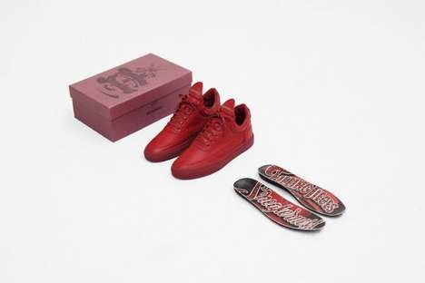 Can Can-Inspired Sneakers - The Sneakerness Paris Red Low Tops Were Inspired by Moulin Rouge