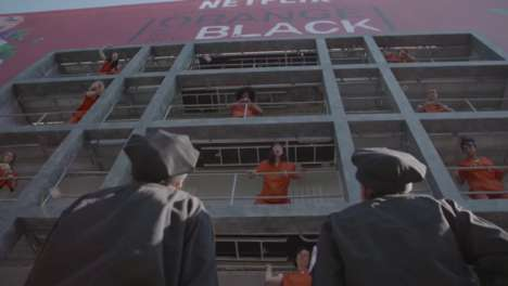 Live Prison Billboards - Netflix' Orange is the New Black Turns a Building Facade into a Prison