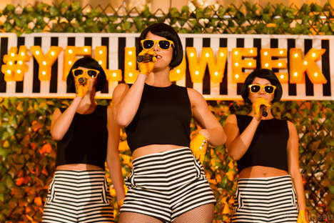 Colorized Champagne Parties - The Exclusive Toronto-Based 'Yelloweek' Event Honors Veuve Clicquot