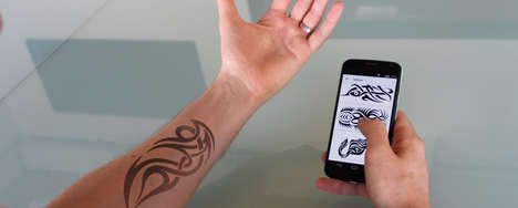 Electronic Ink Tattoos - The 'E-ink' Tattoo Puts a Tattoo on Your Skin with a Smartphone App
