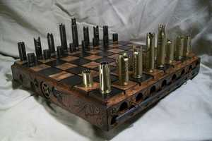 This Handcrafted Custom Chess Set is a Playable Pieces of Art