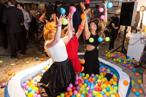 Circus-Themed Fashion Events - The Power Ball Party Supplied Quirky Activities for Celebrity Guests