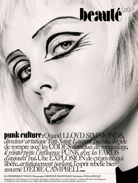 Punk Culture Editorials - Edie Campbell Fronts this Edgy Beauty Exclusive for Vogue Paris