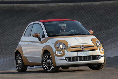 Leather-Bound Compact Cars - Stefano Conticelli Fiat 500c Model Boasts a Fabric-Made Exterior
