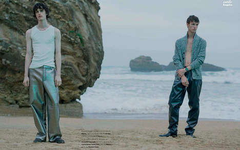 Desolate Seaside Editorials - 'A Wide Space' Highlights Layered and Knitted Menswear Looks