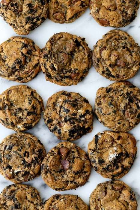 Milk-Infused Chocolate Cookies - This Biscuit Combines the Milk and Cookie Tradition into One Edible