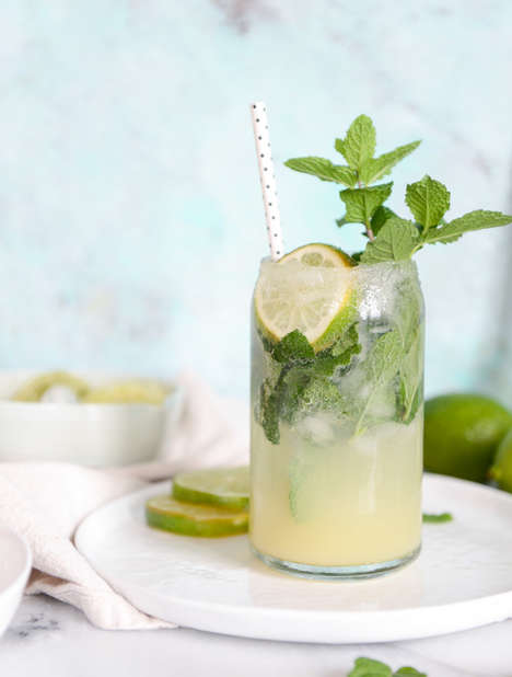Hybrid Mojito Margaritas - This Cocktail Recipe Brings Together Fresh Herbs and Citrus Flavors