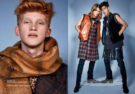 Nouveau Hipster Editorials - 'He's Got the Look' Marries Eccentric Menswear with Playful Accessories