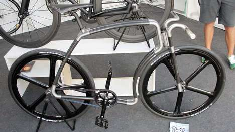 Carbon Fiber Bicycles - The Viks Carbon Bicycle Features a Strikingly Sleek Design