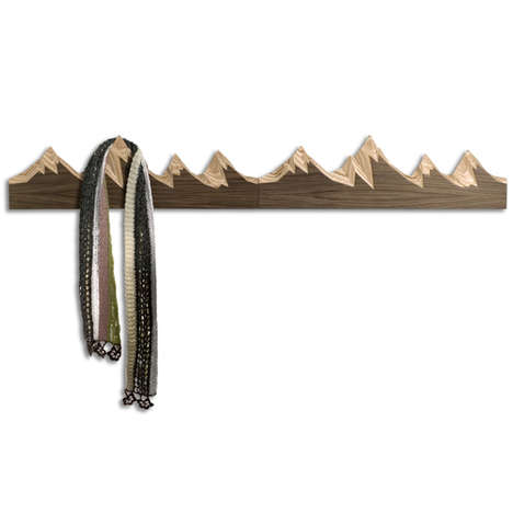 Mountainous Coat Hangers - This Wooden Coat Hanger is Inspired by the Grand Tetons