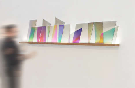 Multicolored Prism Installations - The 101.86° Project Replicates the Rainbow Light of Crystal Gems