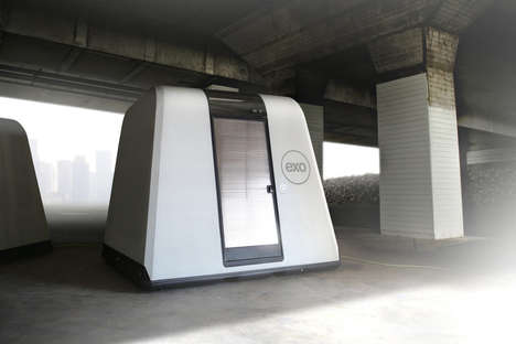Hi-Tech Pop-Up Shelters - The 'Exo' Emergency Shelter is the Most Advanced in the Field