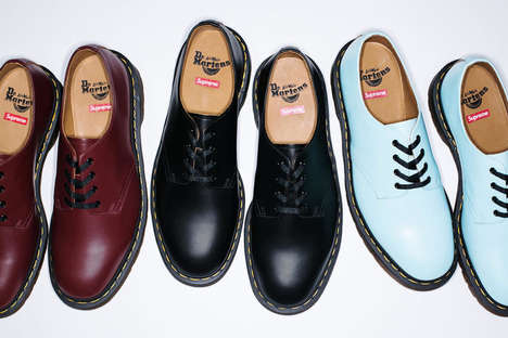 Pastel Punk Footwear - These Doc Martens x Supreme Shoes Introduce an Innovative Color Scheme