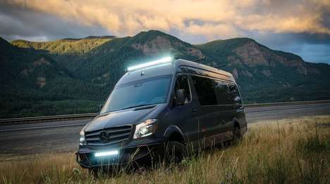 Versatile Adventure Vans - The Lava Flow Adventure Van Caters to a Variety of Users
