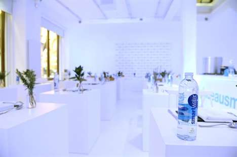 Solitary Dining Pop-Ups - Glaceau Smartwater's Pop-Up Restaurant Pairs Water with Gourmet Food