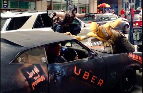 Apocalyptic Taxi Promotions - This Video Game-Themed Uber Stunt Offers Rides in Mad Max-Style Cars