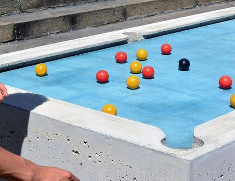 Concrete Outdoor Pool Tables - This Public Pool Table Encourages Urban Socialization