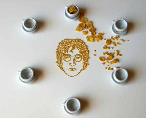 Cereal Celebrity Portraits