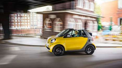 Weatherproof Two-Seater Cars - The Smart Fortwo Cabrio Can Be Used in Various Weather Modes