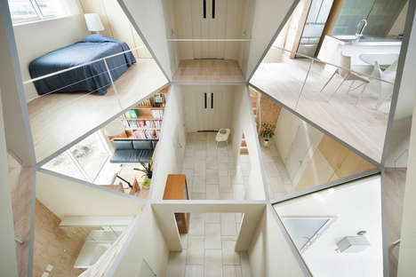 Multifaceted Home Interiors - This Unique House Features an Angular Interior Open Floor Plan