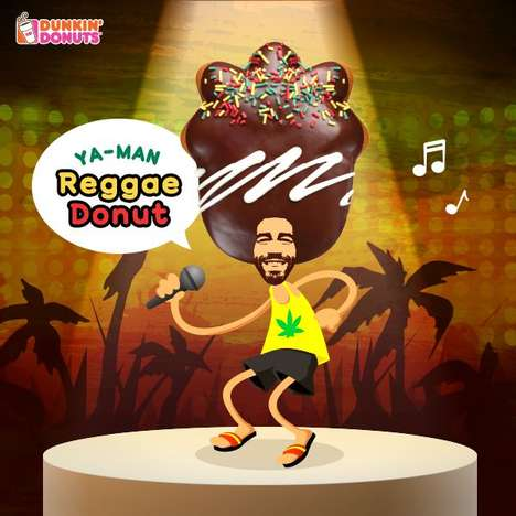 Caribbean Afro Donuts - Dunkin' Donuts South Korea Created a Jamacian-Themed Dessert Design