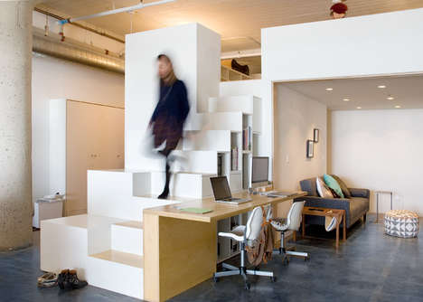 Custom Live-Work Spaces - This Space Modifies IKEA Products to Make Multipurpose Furniture