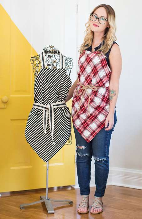 Diy No-Sew Aprons - This Homemade Square Kitchen Smock Can Be Made Without Any Sewing Skill
