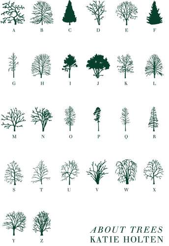 Foliage-Encoded Typefaces - 'About Trees' by Katie Holten is a Book That Replaces Words with Trees