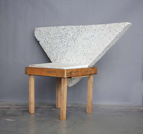 Waste-Integrated Furniture - Ilaria Bianchi's Upcycled Furniture Boasts Forms Made from Recycling