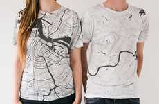 Topographic City Shirts
