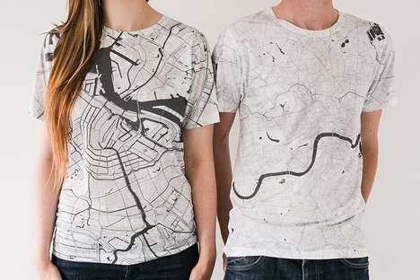 Topographic City Shirts - The 'Citee' T-Shirt Collection Highlights Over 80 Global Cities