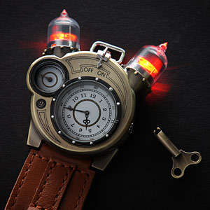 Steampunk Inventor Watches - The Tesla Watch Pays Tribute to Inventor Nikola Tesla's Many Projects