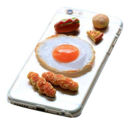 Breakfast Smartphone Cases - This iPhone 6 Case Design Features Miniature 3D Breakfast Food Items